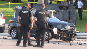 calling police after a car accident
